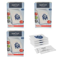 12 Pack of 3D Efficiency HyClean Dust Bags For Miele GN Vacu