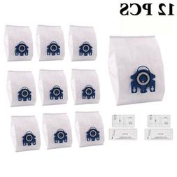 12pcs New 3D Efficiency HyClean Dust Bags For Miele GN Vacuu