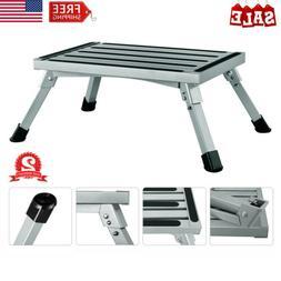 Aluminum Folding Platform Step Anti-Slip RV Steps Stool For