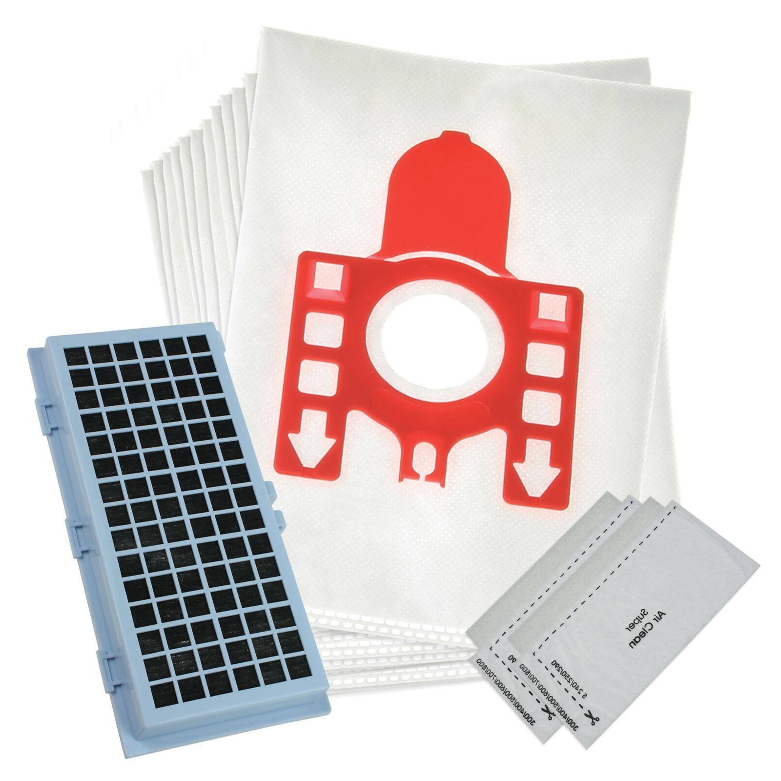 12 Vacuum Bags For Miele Compact C1 & Series with Filter Kit