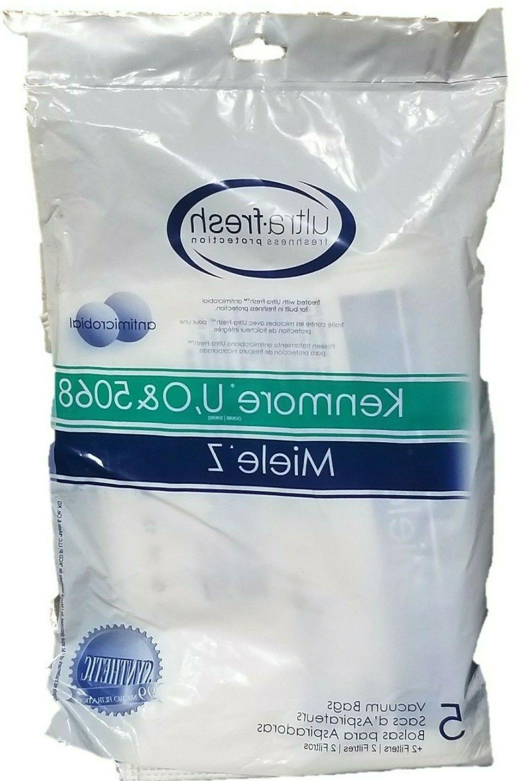 5 Kenmore Vacuum Cleaner Bags Cloth Type U O 50690 5068 CF2