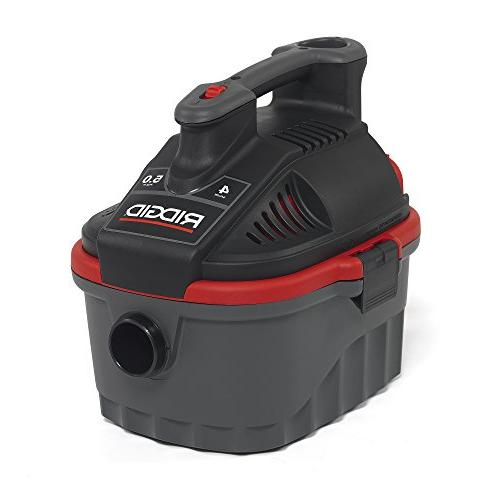 Wet Vacuum, Small with 5.0 HP Motor, Handle, Cord Wrap, Port