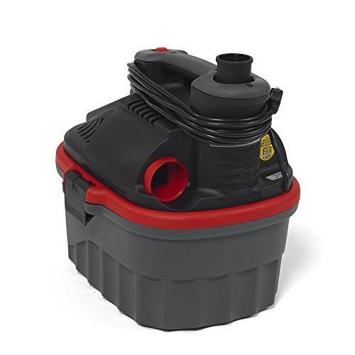 RIDGID Wet Vacuum, 4-Gallon Small with 5.0 HP Motor, Pro Ergonomic Handle, Cord Port