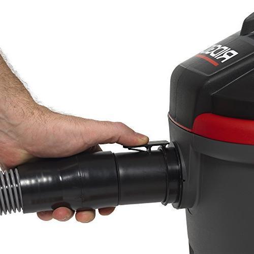 RIDGID Wet Dry Vacuum, Small Wet Dry with Peak Motor, Pro Hose, Handle, Blower Port