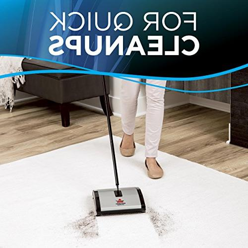Bissell Natural Sweep and Floor Sweeper Dual Rotating and 4 Brushes,
