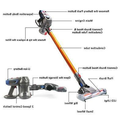 AUTOJARE V10 Cleaner Handheld Stick Household Battery Upright
