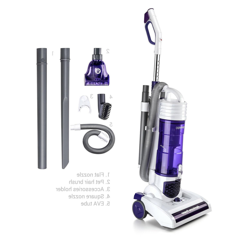 PUPPYOO S7 Bagless Upright Vacuum Cleaner Cyclonic Lightweig