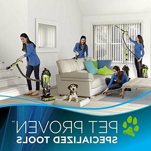 Pet Eraser 1650A Upright Vacuum Cleaner With Tangle Free Brushroll Green