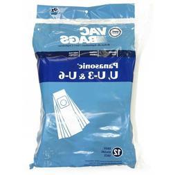 For Panasonic Type U U-3 U-6 Vacuum Cleaner Paper Bags 12pk