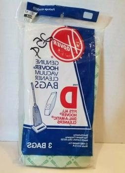 Type D Hoover Vacuum Bags Pkg of 3 bags Fits Hoover Dial-A-M