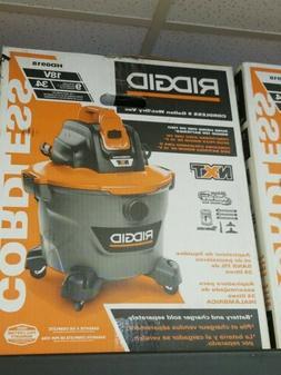 RIDGID Wet Dry Vacuum 9 Gal. 18-Volt Cordless Filter Hose Ac